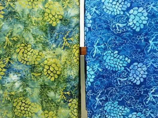 Batik fabric UK using stamp technique ( tie dye or gradation techniques )