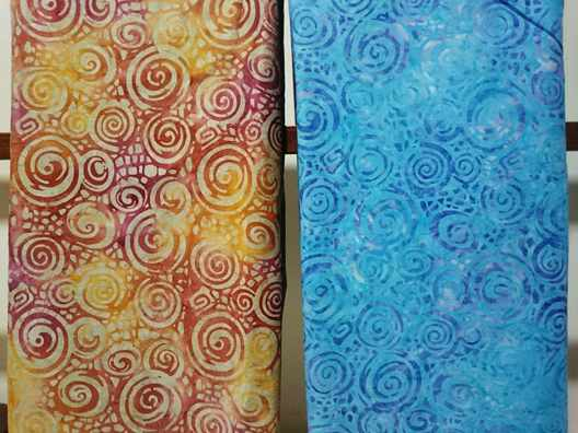 Batik fabric gradient, tie dye or smoke technique
