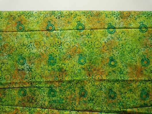 Batik fabric green looks reassuring and soothing