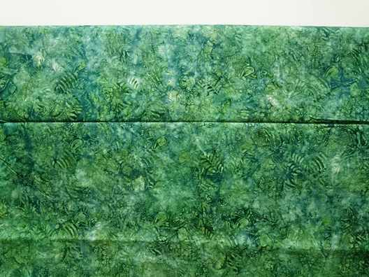 Batik fabric green with stamp technique 3