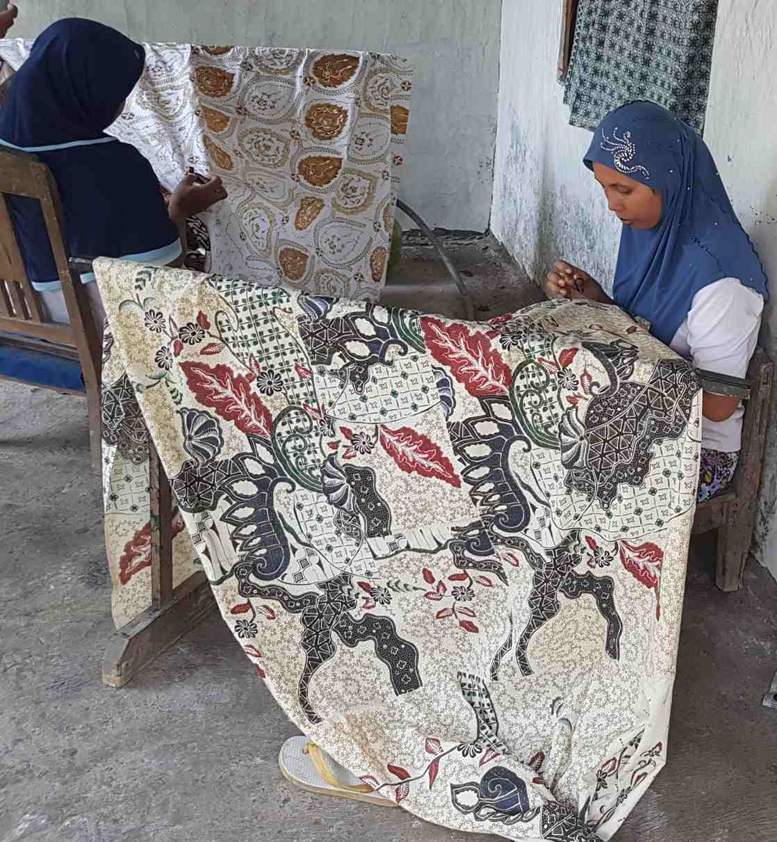 Batik fabric type with canting technique