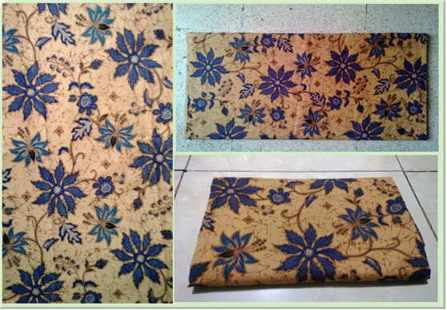 Batik fabric upholstery with print handmade