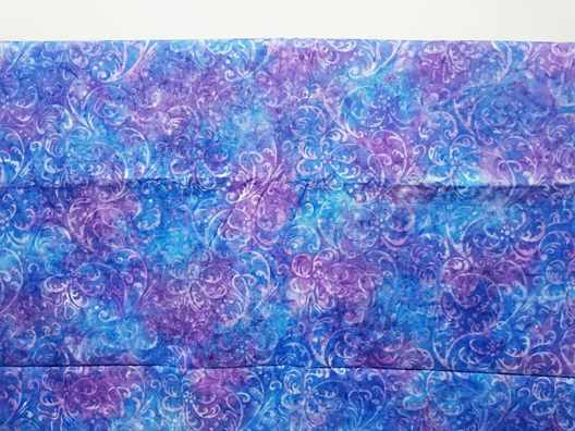 Batik quilting fabric NZ with tie dye method