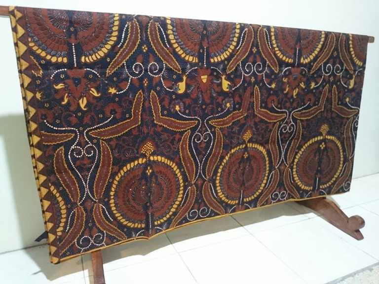 Traditional batik fabric from solo indonesia