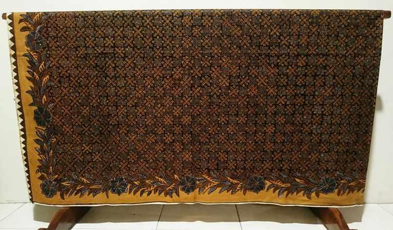 Vintage batik fabric with pakem pattern