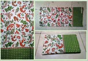 Batik fabric New Zealand with sarong motif