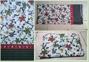Technique of making Traditional batik fabric  using screen