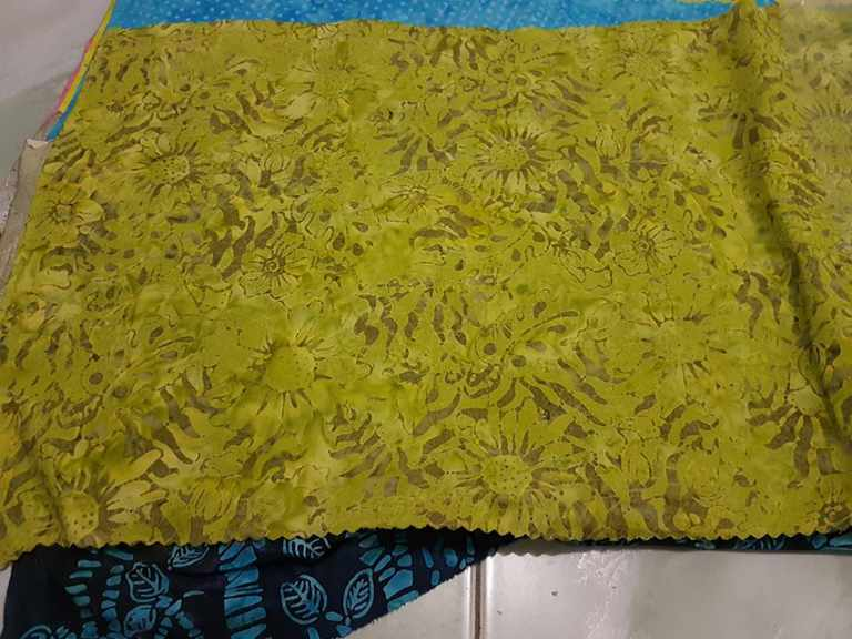 Yellow Batik fabric UK from Solo, Indonesia