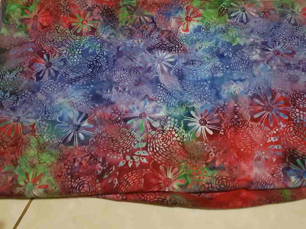 Technique of making Traditional batik fabric using Tie Dye stamp 123
