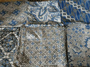 Technique of making batik fabric using Cap or Stamp pelangi