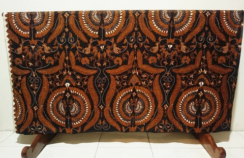 Traditional batik fabric from solo, central java , Indonesia 12