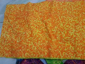 Yellow batik fabric for Quilts, Quilting or Jelly rolls