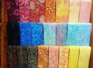 Yellow batik fabric for Quilts, Quilting or Jelly rolls 3