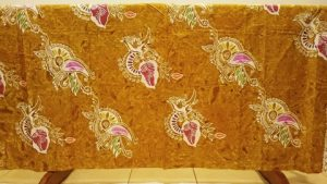 Yellow batik fabric for sarong and quilting