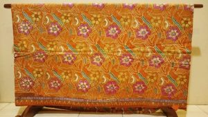 Yellow batik fabric for sarong and quilting 2