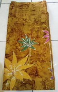 Yellow batik fabric for sarong or shirt 2