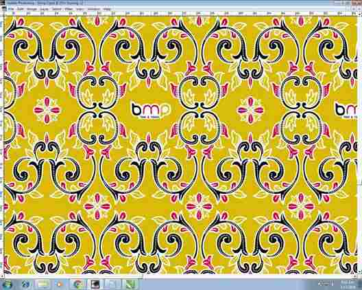 Batik fabric vector for sarong