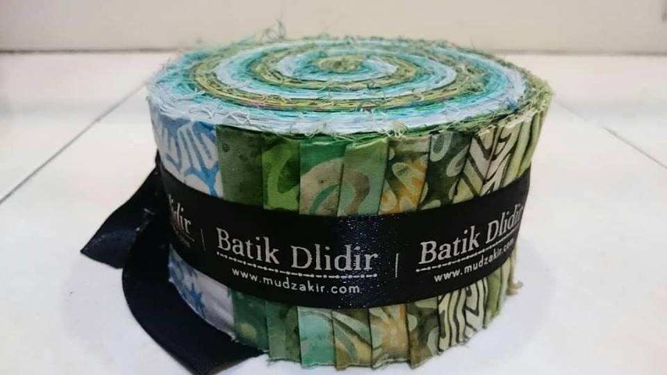 Batik jelly rolls fabric using tie dye traditional handmade