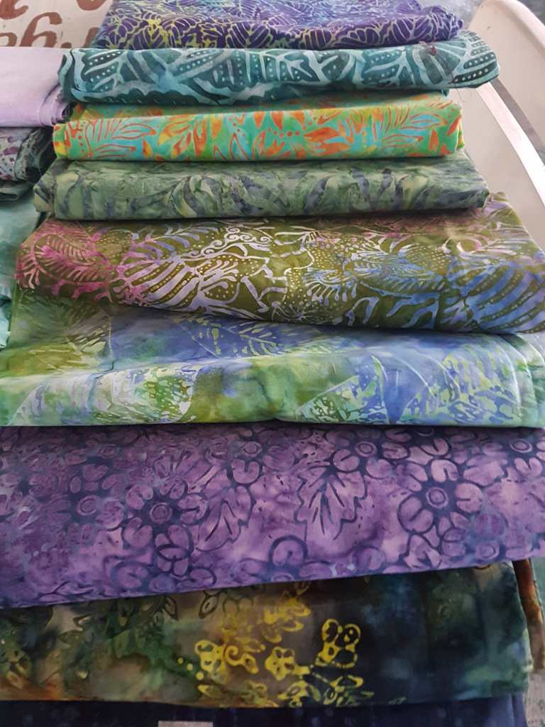 Rayon batik fabric yardage at Batikdlidir