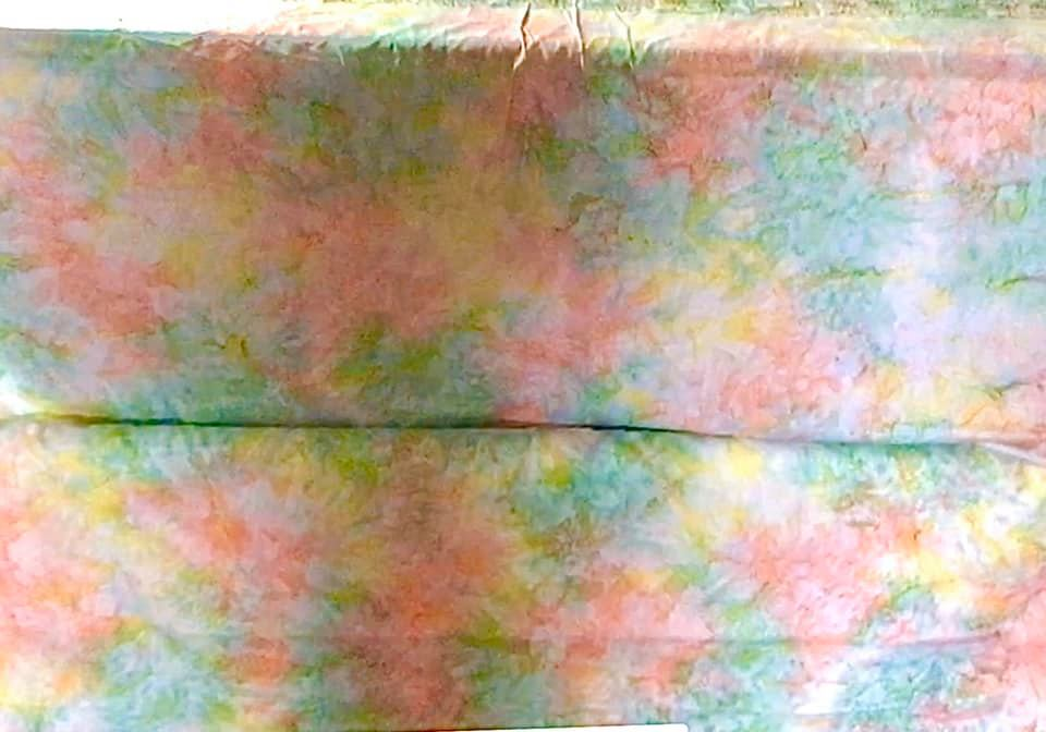 Batik fabric for quilting Hong Kong with smoke multicolors technique 123