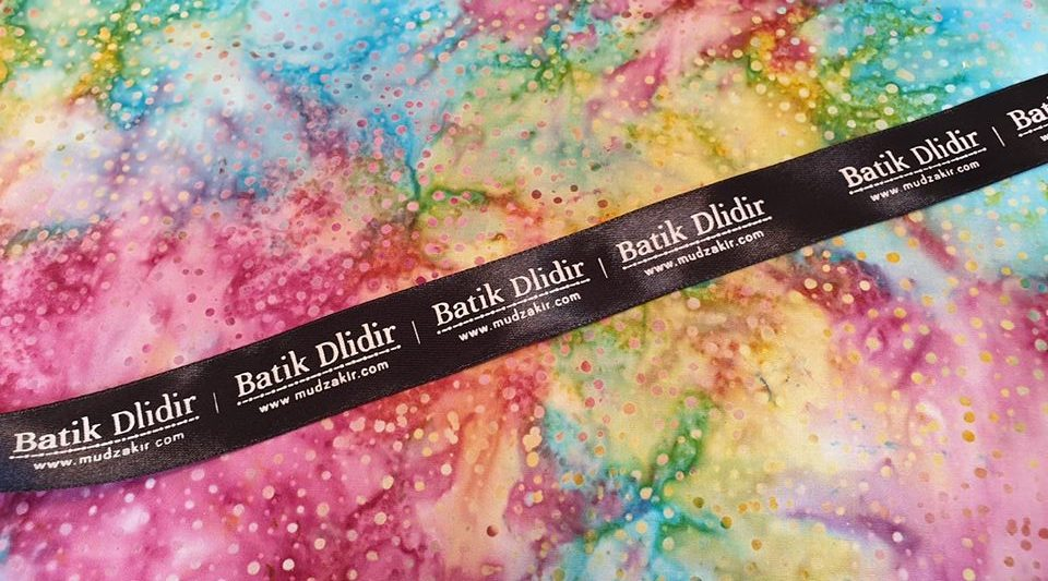 Batik fabric for quilting Ireland with smoke multicolors technique
