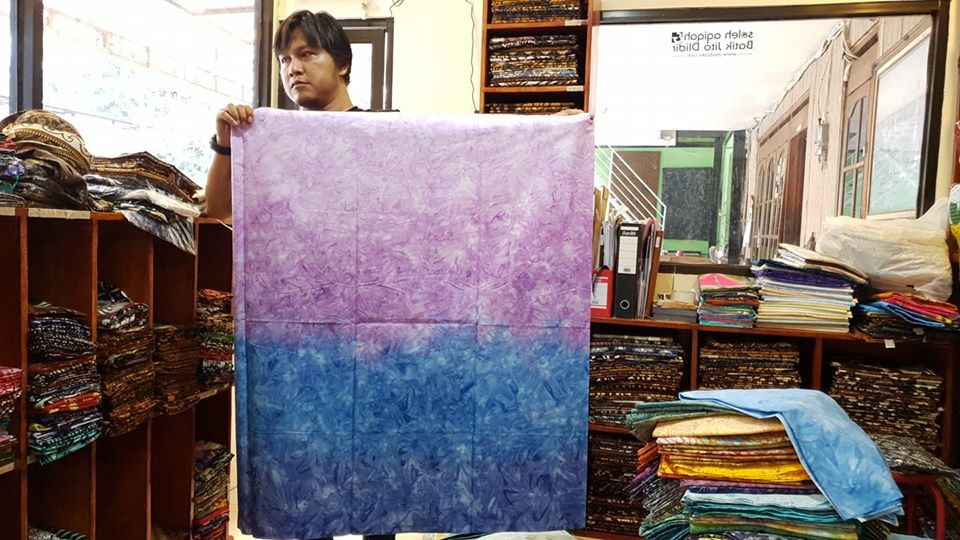 Batik quilting with Ombre technique 123
