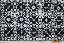 Black and white batik fabric America