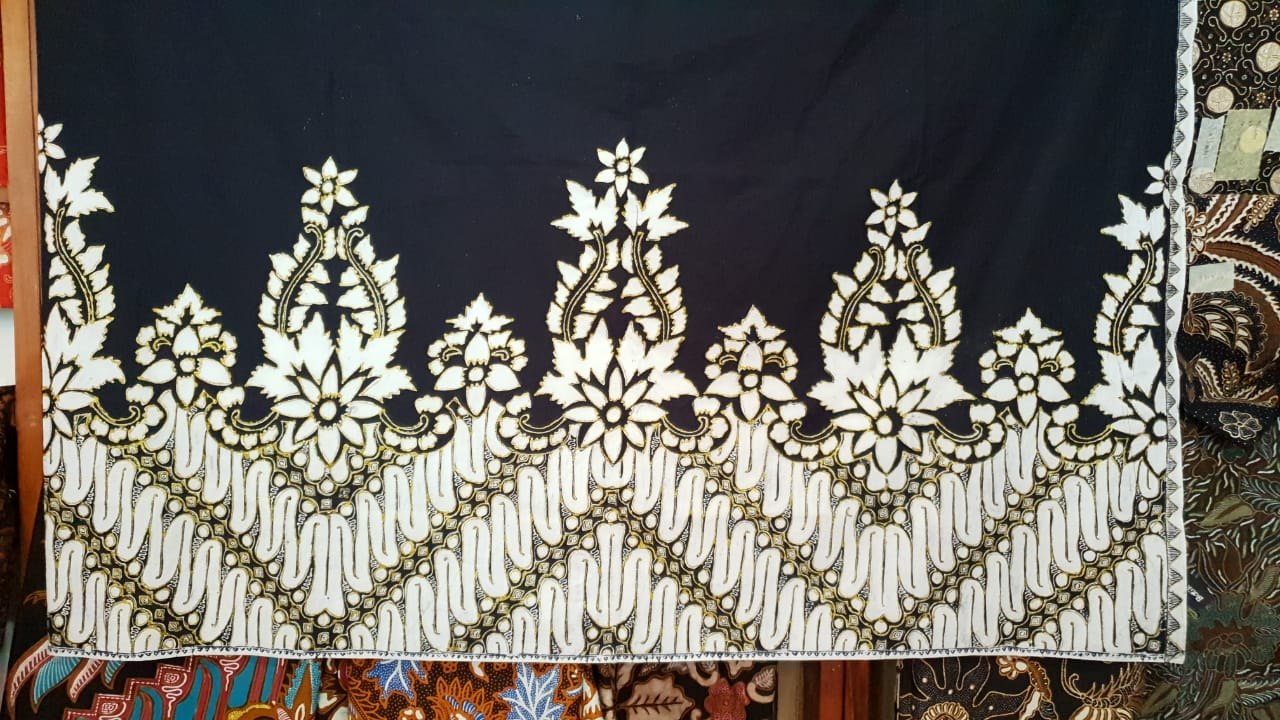 Traditional batik fabric for fashion