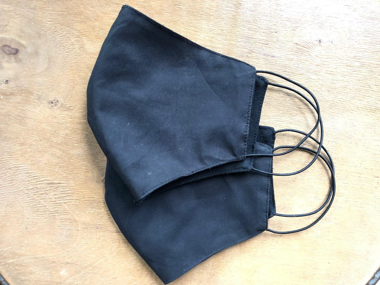 "Masker Kain Tali ""All Black Series"""